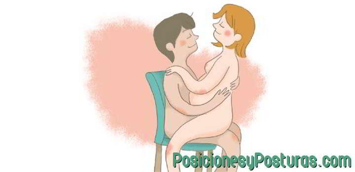 posición sentada sobre tu pareja